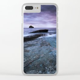 Gull Rock Sunset Clear iPhone Case