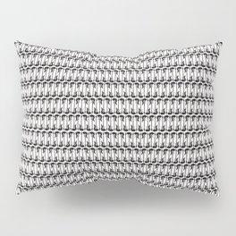 Guitars (Tiny Repeating Pattern on White) Pillow Sham