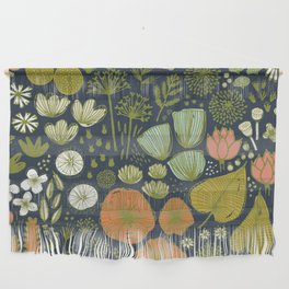 Botanical Sketchbook M+M Navy by Friztin Wall Hanging