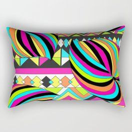 Colorful Palms with Stripe Rectangular Pillow