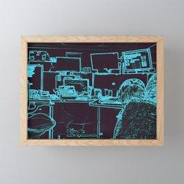 9-1-1 blue Framed Mini Art Print