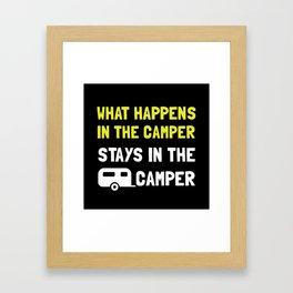 Happens Stays In Camper Framed Art Print