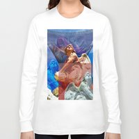 religious Long Sleeve T-shirts featuring Religious Hymns of Angels by CAPTAINSILVA
