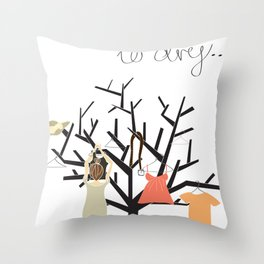 Hung up to dry... Throw Pillow