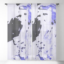 Ice Pack Blue Wave Sheer Curtain