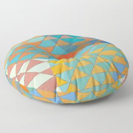 Triangle Pattern No. 11 Circles Floor Pillow