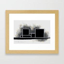 The city of black squares 2 Framed Art Print