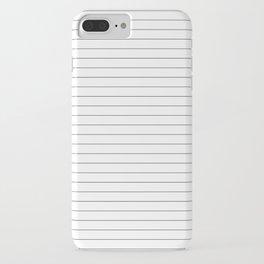 White Black Lines Minimalist iPhone Case