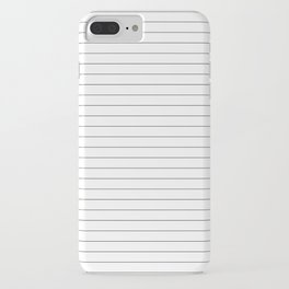 White And Black Pinstripe Line Stripe Minimalist Stripes Lines iPhone Case