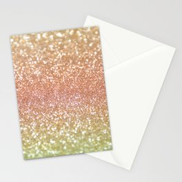 Champagne Shimmer Stationery Cards
