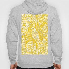 Gen Z Yellow Parakeet Lino Cut Hoody