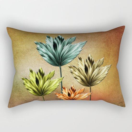 Four Fractal Flowers Rectangular Pillow