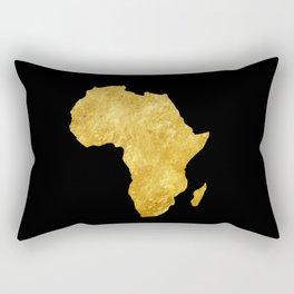 Gold Africa Rectangular Pillow
