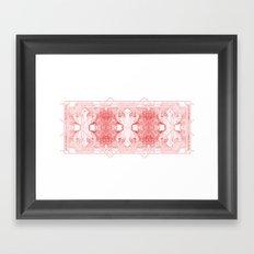 The Willow Pattern (Rose variation) Framed Art Print