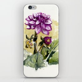 Watercolour Dhalia iPhone Skin