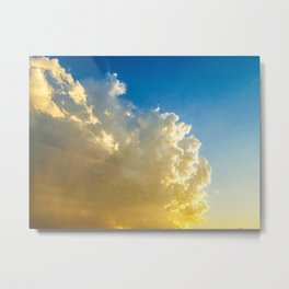 Blushing Orange II Metal Print