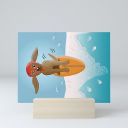 Surf Dog on Top of the Wave Mini Art Print