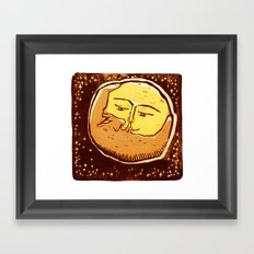 Conjunction moon and planet Framed Art Print