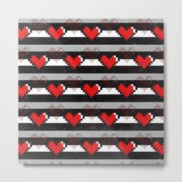8-Bit Love Metal Print