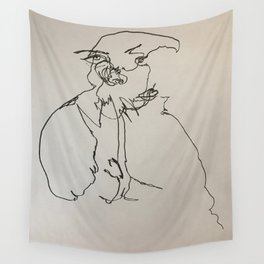 Blind Contour Subject Wall Tapestry