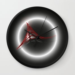 Abstract flux from eclipse - Vector Wall Clock