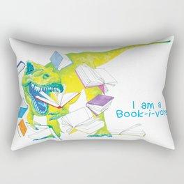 I am a Book-i-vore! Rectangular Pillow