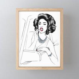 Glam Girl Framed Mini Art Print