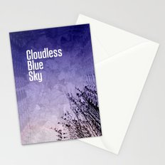 Cloudless Blue Sky Stationery Cards