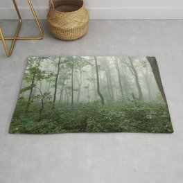Smoky Mountain Summer Forest - National Park Nature Photography Rug