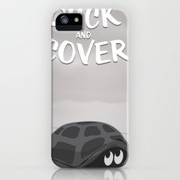 Duck and Cover Vintage Atomic Poster iPhone Case
