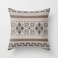 the big lebowski Throw Pillows featuring The Big Lebowski Cardigan  by Marvelis