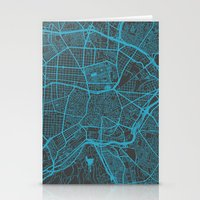 madrid Stationery Cards featuring Madrid by Map Map Maps