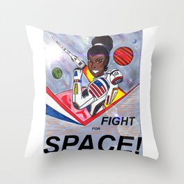 Fight For Space Throw Pillow