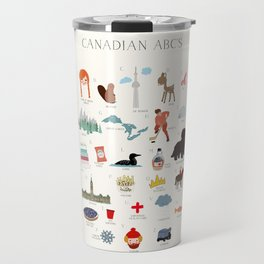 Canadian ABCs Travel Mug