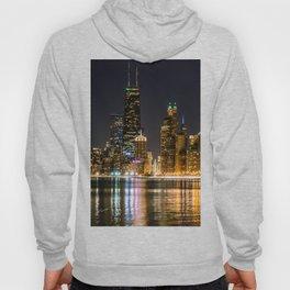Chicago North Shore Skyline Night Hoody