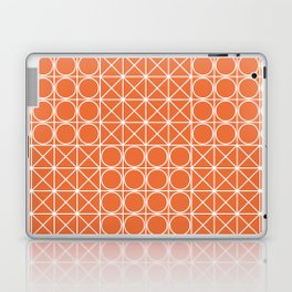 Geometric Tile Pattern Orange Laptop & iPad Skin