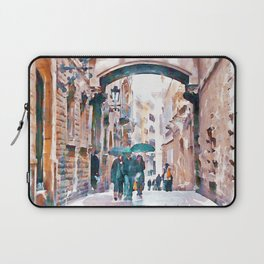 Carrer del Bisbe - Barcelona Laptop Sleeve