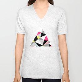 Colored Geometry Unisex V-Neck