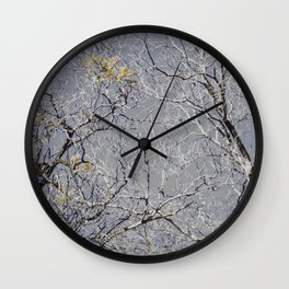 Exposed Branches Wall Clock