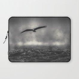 Hunting The Fog Line Bald Eagle Laptop Sleeve
