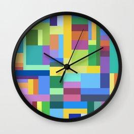 Color Burst Geometry Wall Clock