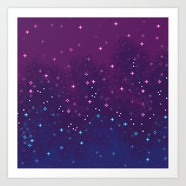 Bi Pride Flag Galaxy Art Print