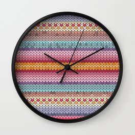 knitting pattern Wall Clock