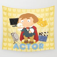 actor Wall Tapestries featuring Actor by Alapapaju