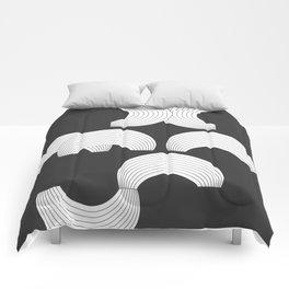Xmas Typo Black #society6 #decor #buyart Comforters