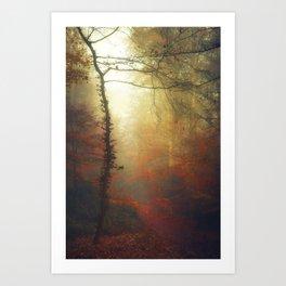 Carmine Path Art Print