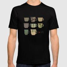 I {❤} Coffee Black MEDIUM Mens Fitted Tee