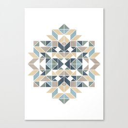 Patchwork inspider pattern 1 Canvas Print