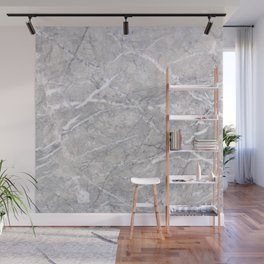 Through the Branches Gray Marble Wall Mural