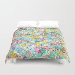 Spring Confetti Brushstrokes Duvet Cover